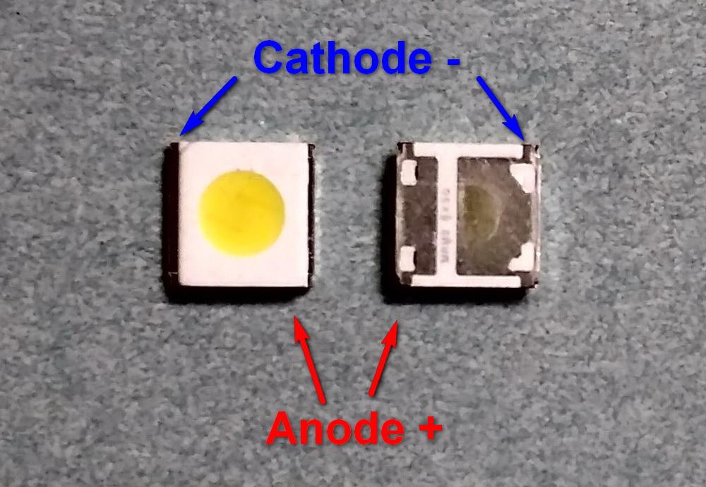 Светодиод подсветки матрицы WOOREE led 3535 smd 3V - цоколёвка