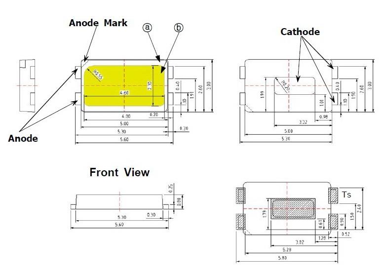 Светодиоды подсветки матрицы SEOUL (SAMSUNG) led 5630 smd 3V - даташит