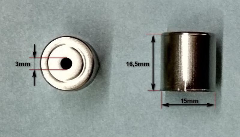 Колпачок магнетрона микроволновки LG (СВЧ печи) - размеры