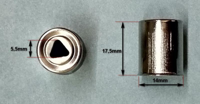 Колпачок магнетрона микроволновки Panasonic (СВЧ печи) - размеры