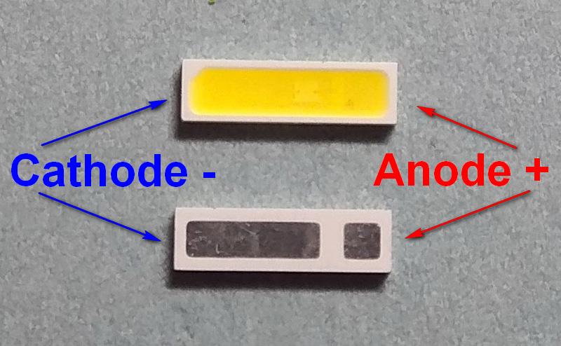 Светодиоды подсветки матрицы Everlight led 7020 3V 160mA 0,5W smd - маркировка