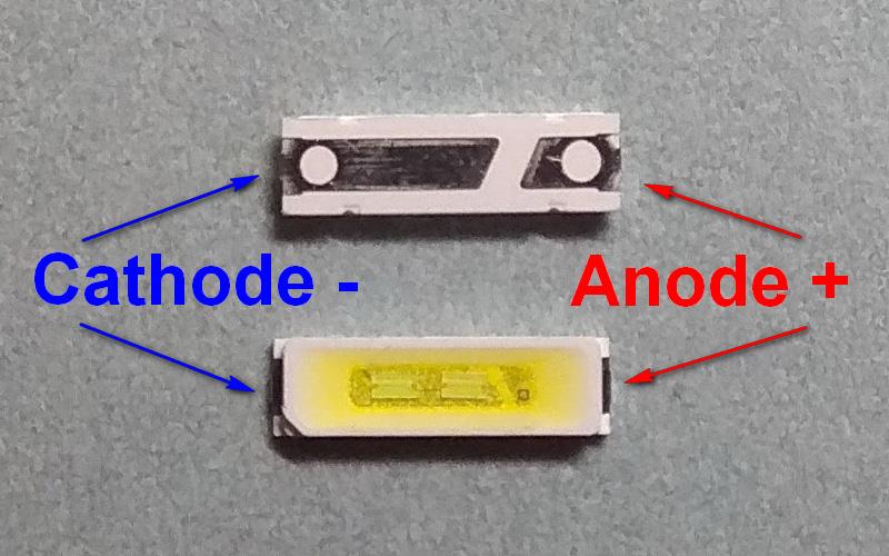 Светодиоды подсветки матрицы Konka led 7020 6V 150mA 1W smd - маркировка