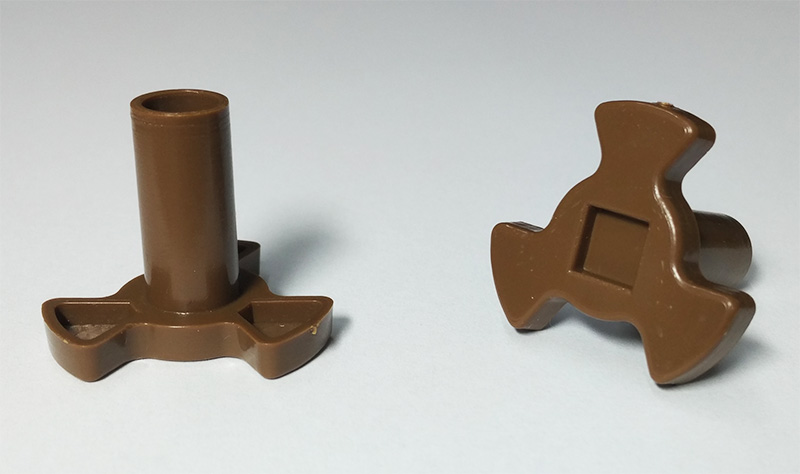 Куплер, насадка, муфта, втулка вращения тарелки для микроволновки Gorenje (H=29mm)