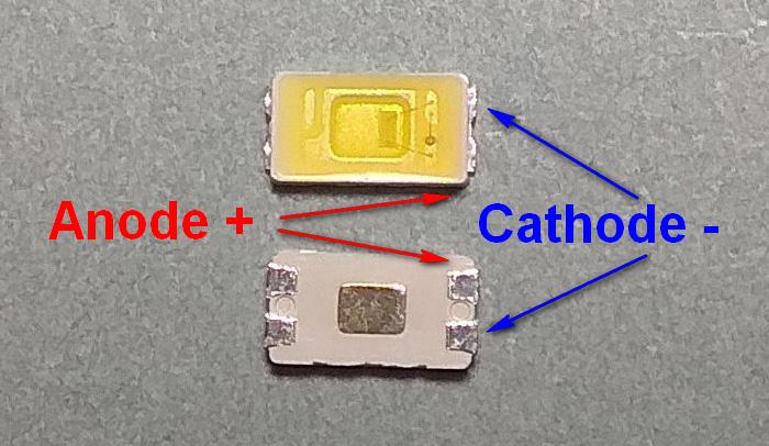 Светодиоды подсветки матрицы Lextar led 5630 3V 150mA 0,5W smd - маркировка