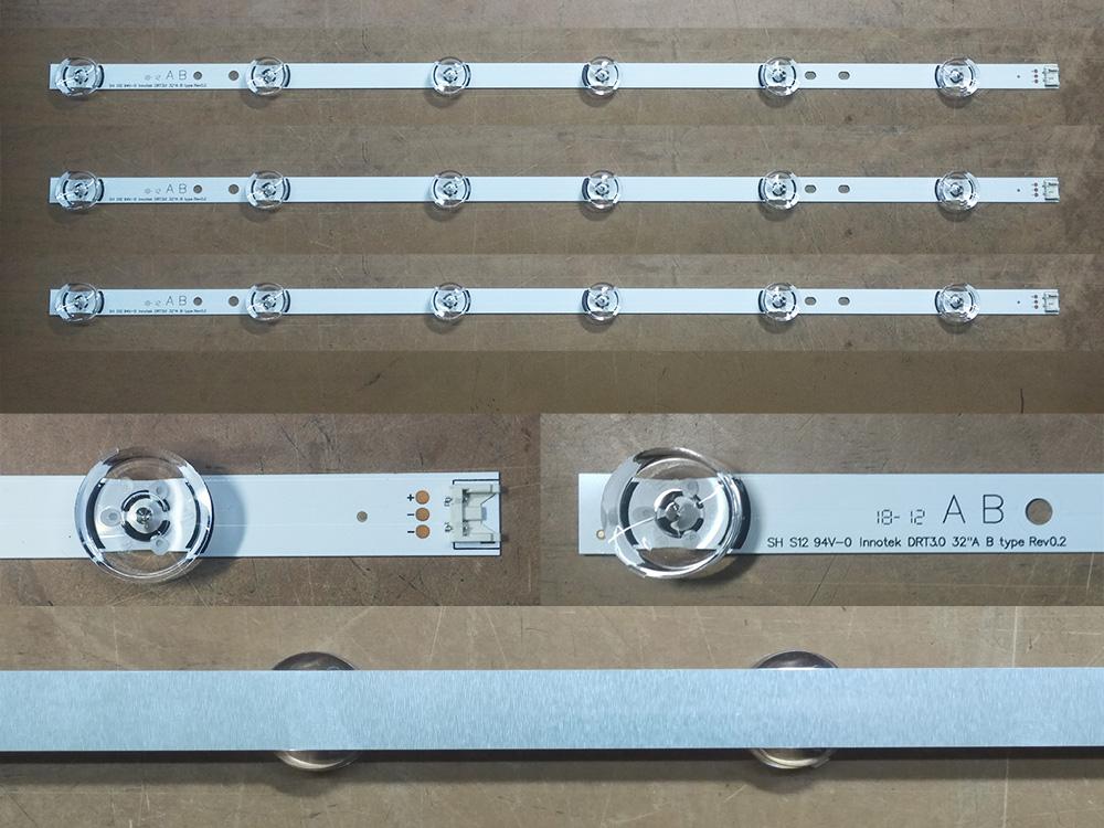 Планки светодиодной подсветки LG (A/B 6 led 6V 590mm DRT 3.0)
