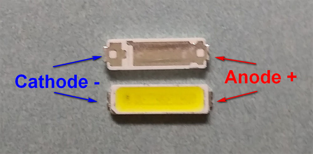 Светодиоды подсветки матрицы LG Innotek led 7020 smd 6V - маркировка