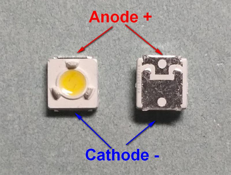 Светодиоды подсветки матрицы Lumens led 3535 (3537) U 3V 350mA 1W smd - маркировка