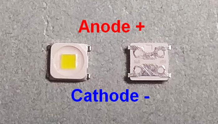 Светодиоды подсветки матрицы Lumens (Samsung) led 2828 (3228) 3V 570mА 1,5W smd (квадрат) - маркировка