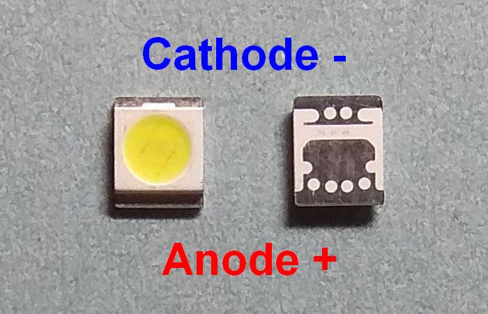Светодиоды подсветки матрицы Seoul led 3528 (2835) 3V 400mA 1W (cold white) smd - маркировка