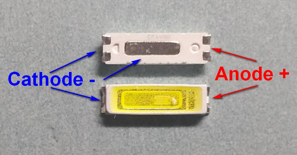 Светодиоды подсветки матрицы Seoul led 7020 smd 3V - маркировка