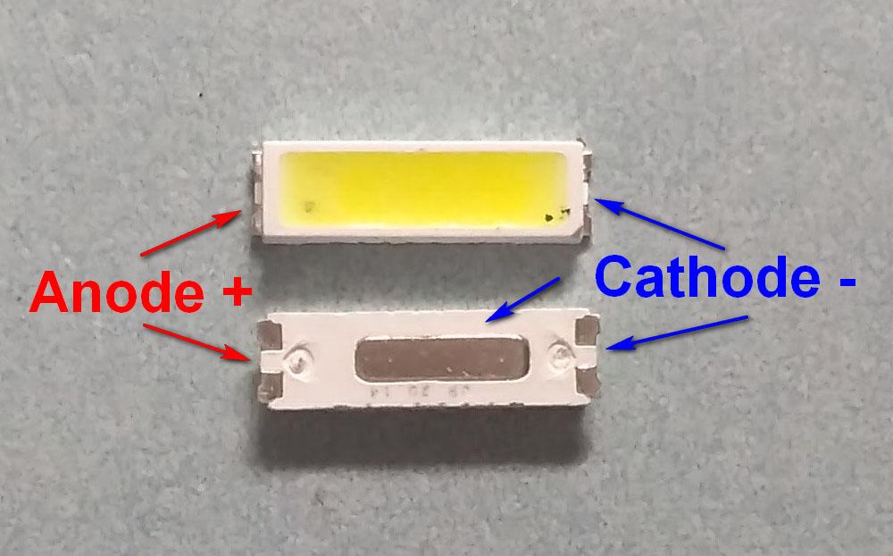 Светодиоды подсветки матрицы Seoul led 7020 6V 150mA 1W smd - маркировка