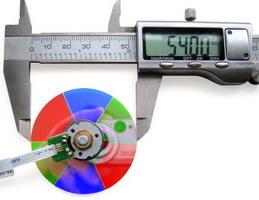 Механічне колесо з кольоровими світлофільтрами
