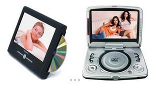 Портативні телевізори і ДВД
