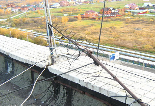 Поламана антена