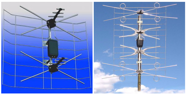 Polish aerial with amplifier