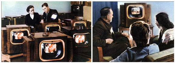 the First mass color TVs