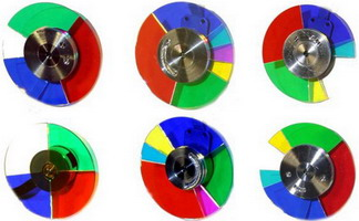 Механічні колеса з кольоровими світлофільтрами
