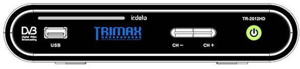 Тюнер Trimax TR-2012HD, передня панель