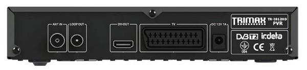 Trimax TR-2012HD PVR - задня панель