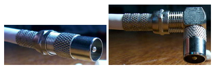Прямой и угловой штекер с кабелем