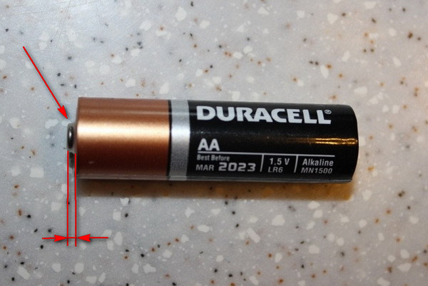 the Mystery of the positive terminals of the batteries