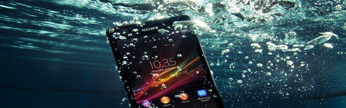 Sony Xperia ZR smartphone for underwater communication