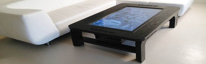 Coffee table with built-in computer