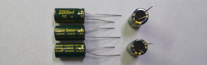Электролитический конденсатор 2200мкФ 16В 105ºС 10x20мм Low ESR Chongx
