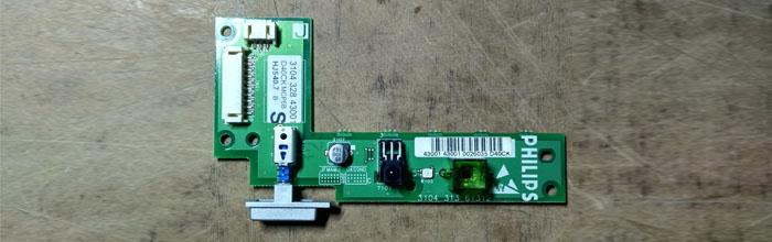 Блок управления (индикация, фотоприёмник) для PHILIPS 42PF3320/10