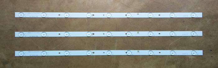 """Планки светодиодной подсветки 32"""" (9 led 6V 600mm)"""