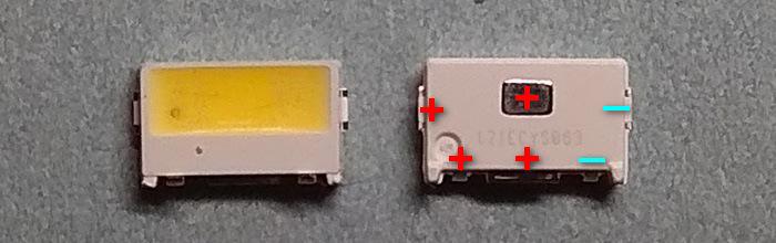 Светодиоды подсветки матрицы Edge led 5030 3V smd