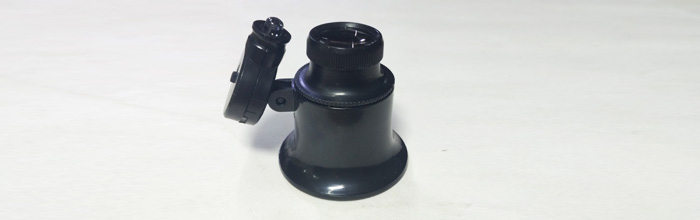 Лупа-20х с подсветкой (оптика, монокуляр, лупа часовщика или ювелира)