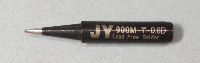 Жало паяльника JY 900M-T-0.8D (клин, двойной срез)