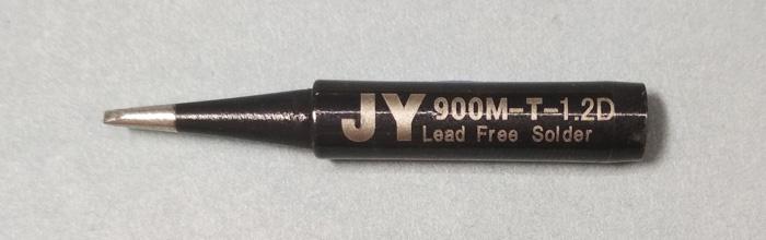 Жало паяльника JY 900M-T-1.2D (клин, двойной срез)