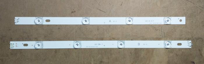 """Планки светодиодной подсветки LG 42"""" (A+B 8 led 6V 825mm DRT 3.0)"""