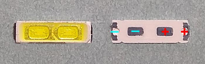 Светодиоды подсветки матрицы LG Innotek led 7020 6V 140mA 1W smd (ver-2)
