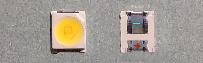 Светодиоды подсветки матрицы Osram led 3528 smd 3V (круг)