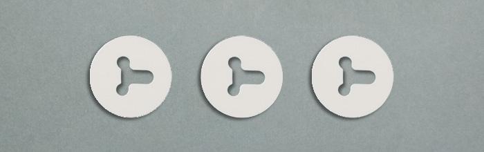 Отражатель-самоклейка для линз светодиодных планок подсветки матрицы LG