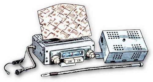 Автомобільний радіоприймач А-17 із гучномовцем