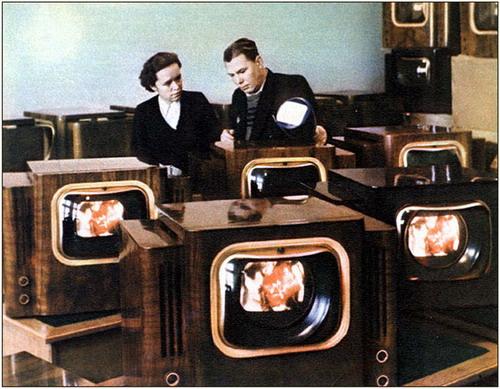 Перший кольоровий телевізор - Веселка в магазині