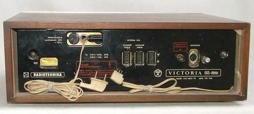 Вікторія-003М - задня панель