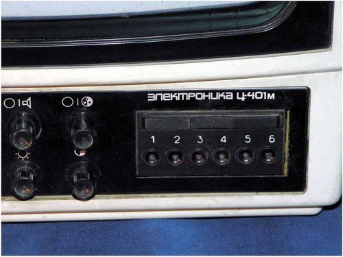 Электроника Ц-401М - панель