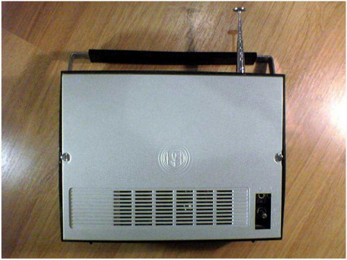 Радиоприёмник Колос - задняя