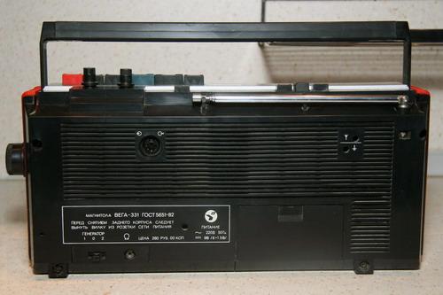 Вега-331 - задня панель