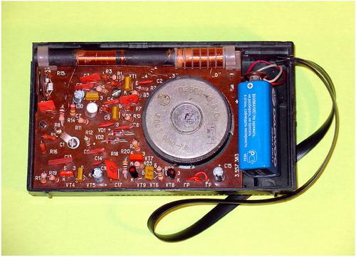 Радіоприймач Електронік - плата з деталями