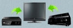 Телевизор + DVD + ресивер