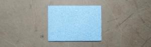 Губка для очистки жала паяльника (синяя) 60х40 мм