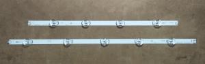 """Комплект планок (A+B) светодиодной подсветки LC490DUE LG 49"""" DRT 3.0 (9 led 6V 1025mm)"""